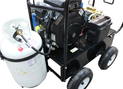 Hot Water Engine Drive L.P Gas Burner System