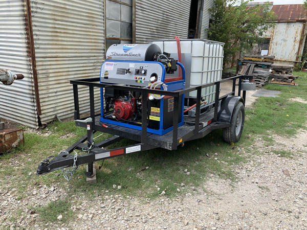 Hot water washer 4 GPM @ 40000 psi with no recovery system